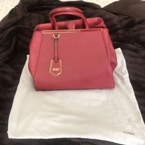 7ad2e4e561da FENDI Vitello Elite Large 2Jours Tote